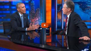Obama, Jon Stewart