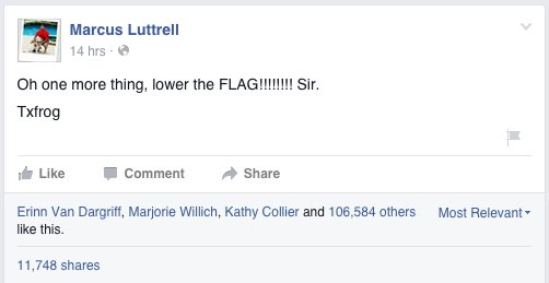 Image Credit: Facebook/Marcus Luttrell