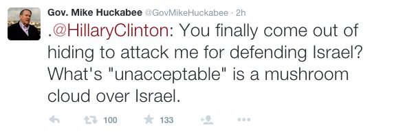 Image Credit: Twitter/Gov. Mike Huckabee