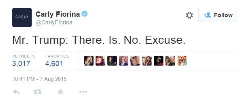 Carly Fiorina Tweet Trump