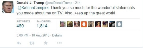 Donald Trump Twitter Katrina