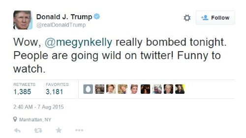 Donald Trump Twitter - Megyn Kelly