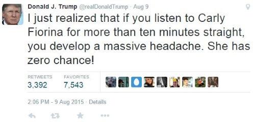 Trump Tweet Fiorina II