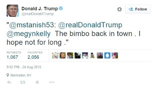 Trump Tweet Kelly Bimbo