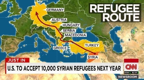 Syrian Refugee Map