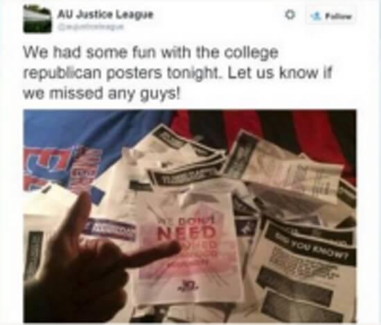 american AU Justice Tweet