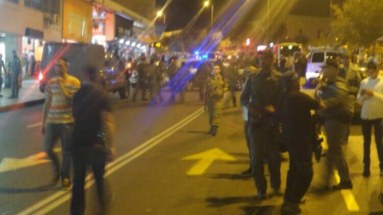 Scene of the terror attack at the cental bus station in Jerusalem this evening
