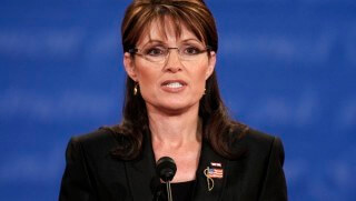 Republican vice presidential nominee Alaska Governor Sarah Palin speaks during the U.S. vice presidential debate at Washington University in St. Louis, Missouri, October 2, 2008.    REUTERS/Jim Young   (UNITED STATES)   US PRESIDENTIAL ELECTION CAMPAIGN 2008  (USA)