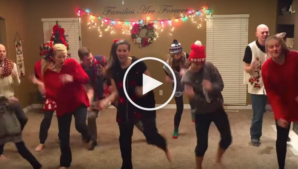 Family Does Hilarious Ugly Christmas Sweater Dance