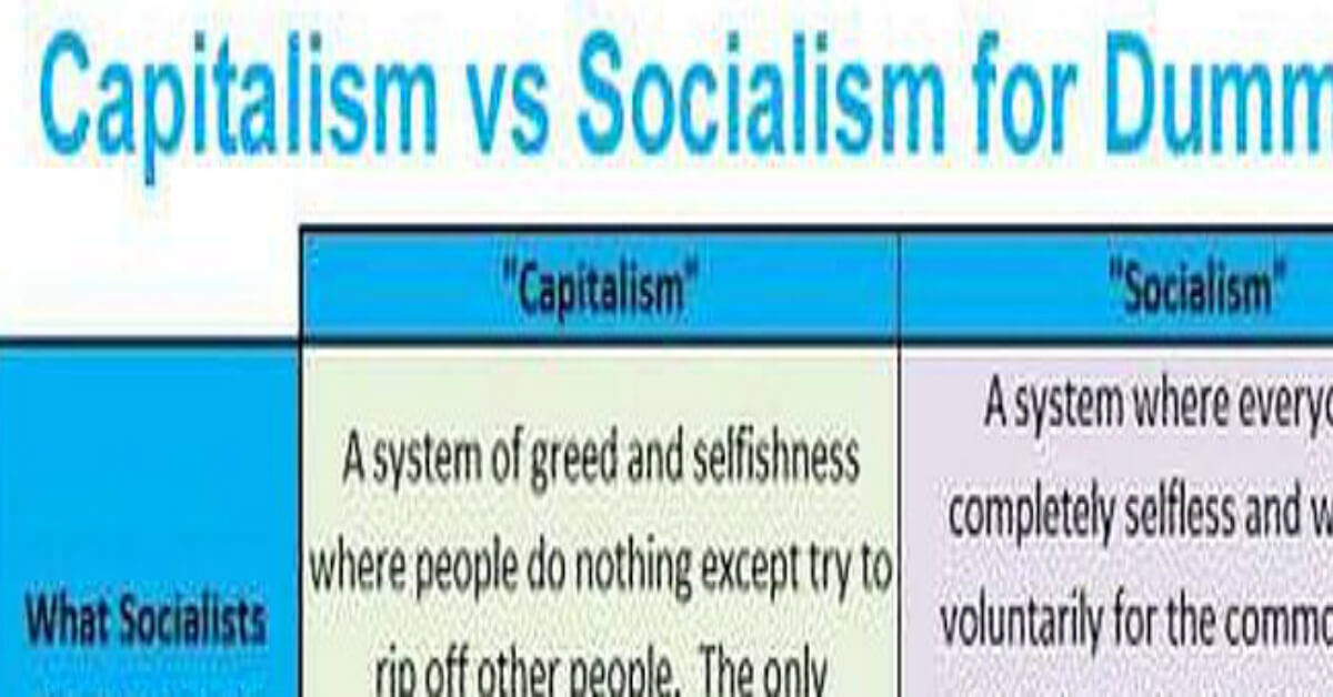 """Republicans Vs Military >> """"Capitalism v. Socialism for Dummies""""... This Is Brilliant"""