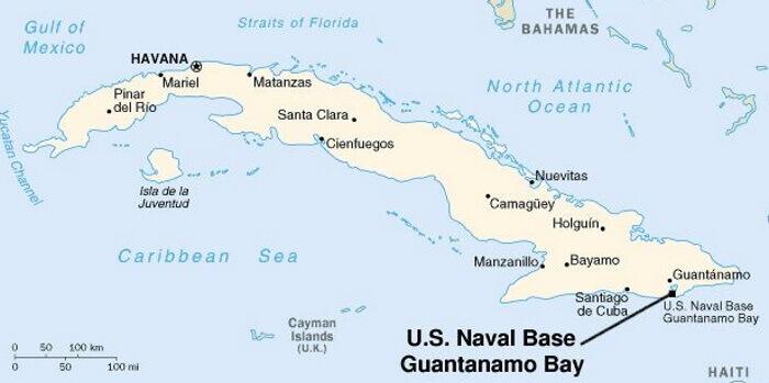 Guantamo Bay Map