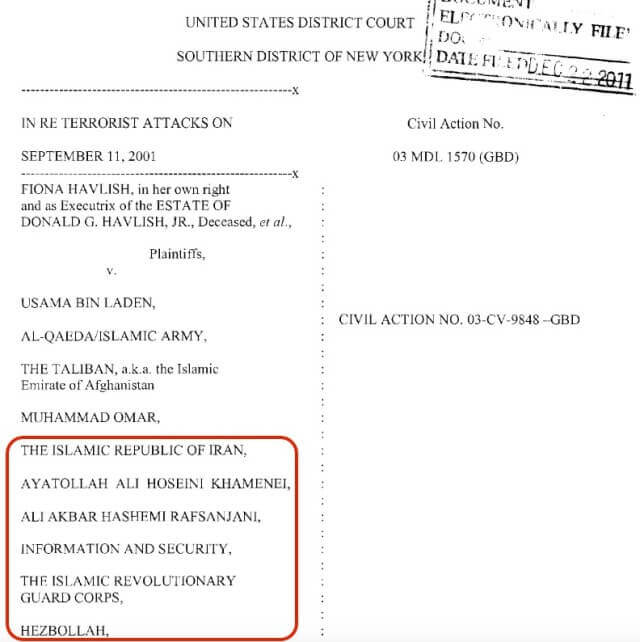 Federal Judge Rules for Havlish 12/22/11