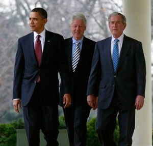 Bushes and Clintons gave U.S. Obama.