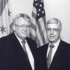 Othman with Republican Speaker of the House Dennis Hastert.