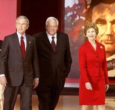 Then Speaker Hastert with then President George W. Bush.
