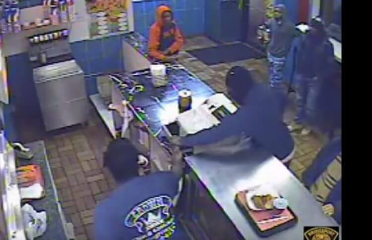 Crown Fried Chicken Attempted Robbery. Image Credit: Video Screenshot