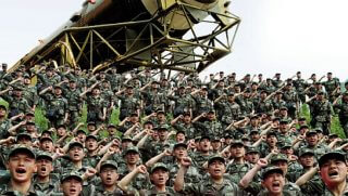 Chinese missile troops