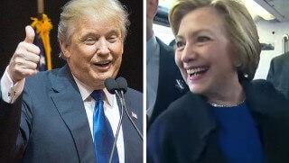 trump and hillary NY