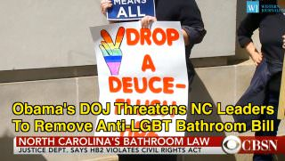NC bathroom law picketer