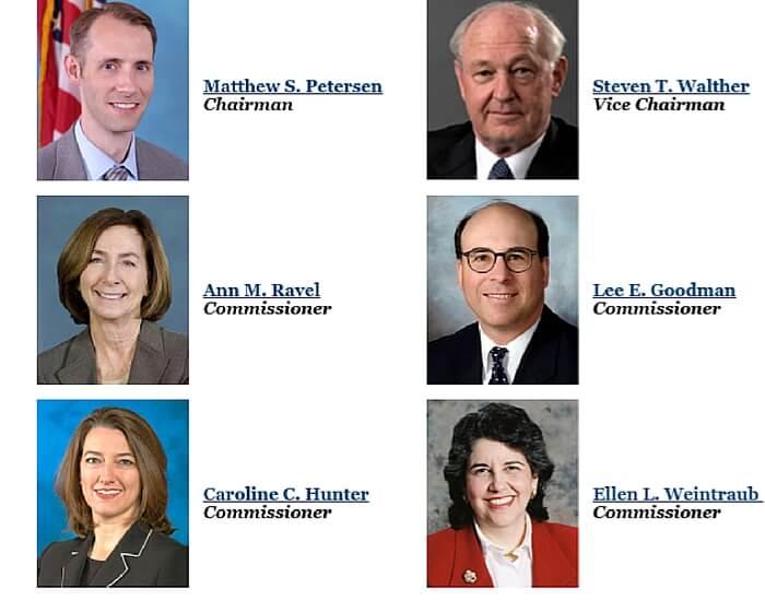 Image Credit: FEC.gov - Republicans: Goodman, Petersen, Hunter Democrats: Weintraub, Ravel, Walther)
