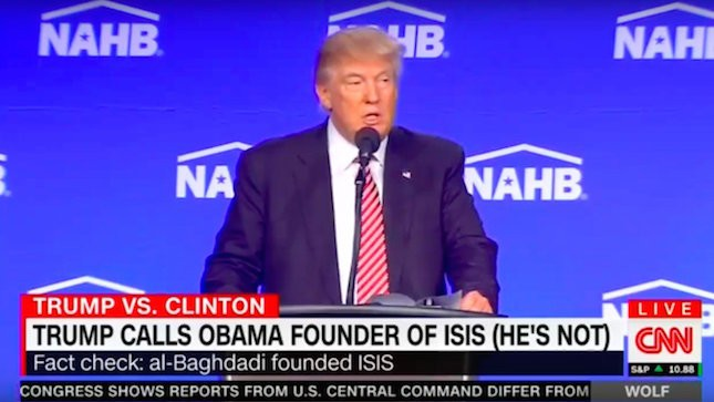 CNN drops all pretext of objectivity, immediately contradicts Trump's statement. Image Credit Screenshot