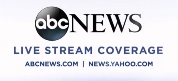 ABC aired their logo and cut Trump's mic just as he began addressing Clinton. Image Credit: Video Screenshot