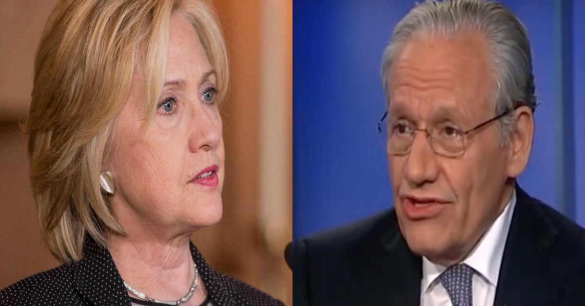 bob woodward says hillary clinton in trouble foundation corrupt