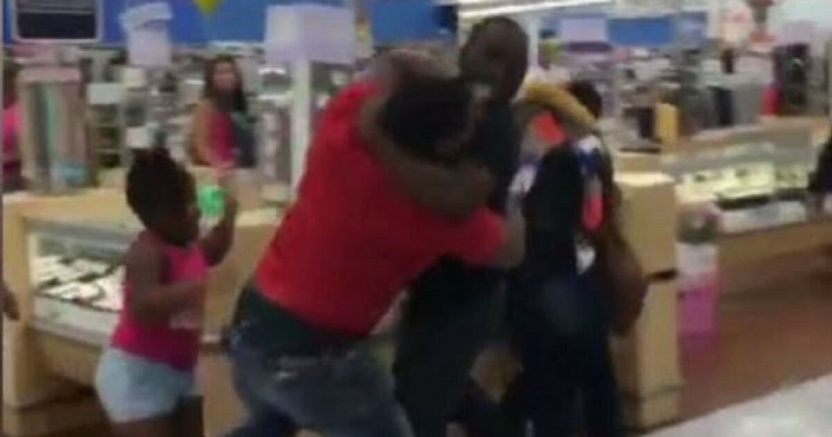 Watch: Full Blown Brawl Erupts In Local Walmart - Children Left To Break It Up Themselves