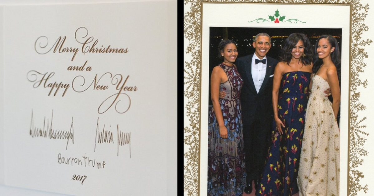 White House Releases Trump S First Christmas Card As President 1
