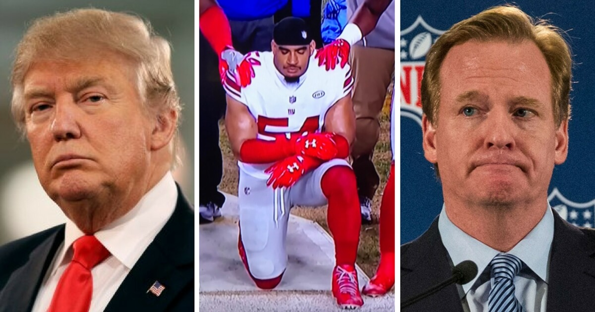 Day After NFL Player Kneels During Anthem, Trump Sends Roger Goodell a Message He Can't Ignore