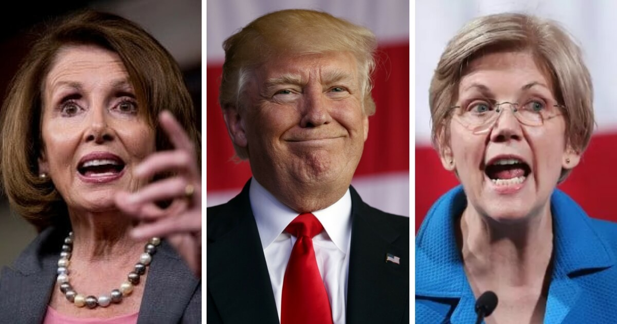 Nancy Pelosi, Elizabeth Warren, Donald Trump