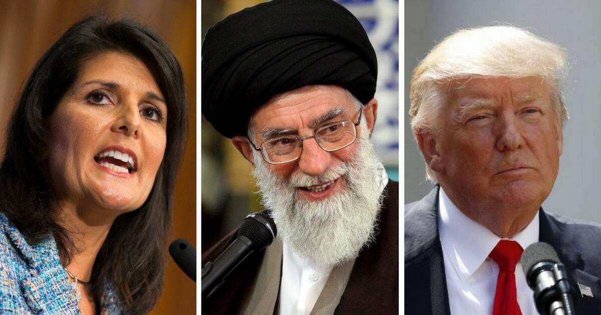Nikki Haley, ayatollah, trump
