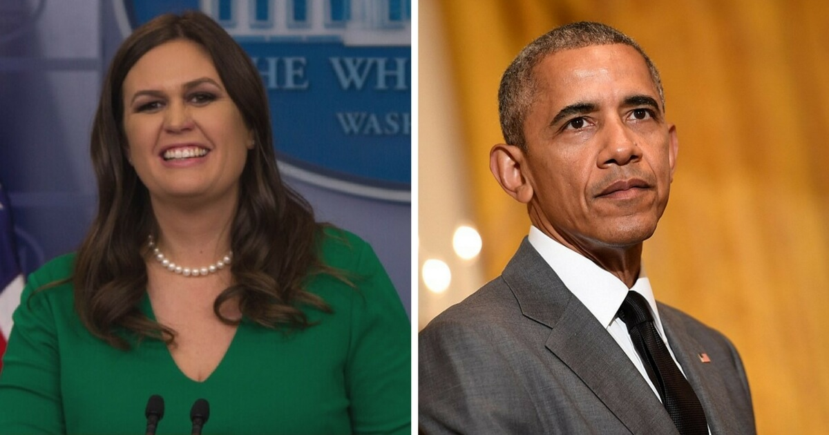 Sarah Sanders Laughs Watching Obama Taking Credit for Trump Economy, Then Drops the Perfect Response