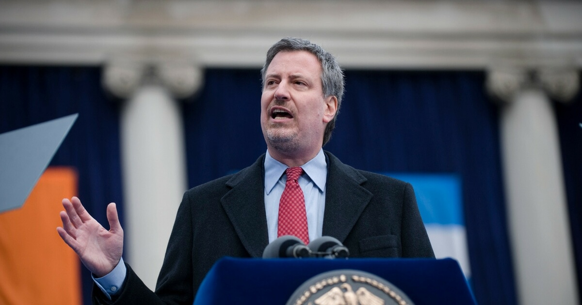 New York Mayor Bill De Blasio Tried Suing Oil Companies Over Global Warming