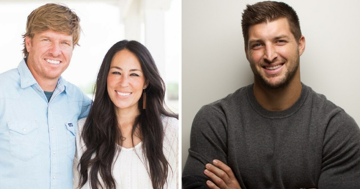 chip and joanna gaines announce new partnership with tim tebow