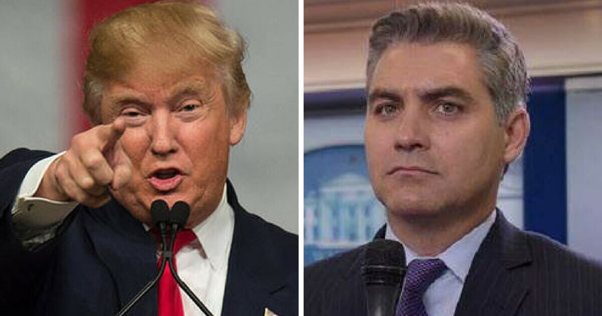 Trump Swats CNN's Jim Acosta Down After Reporter Tries to Portray Him as Racist