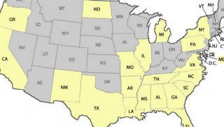 Map of US Shows Which States Have The Highest Number of People Who