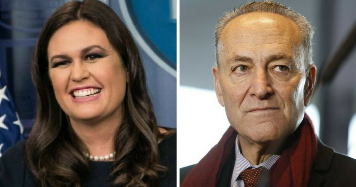 Sarah Sanders Destroys Schumer After Yet Another Reporter Asks if Trump Is a Racist (Video)