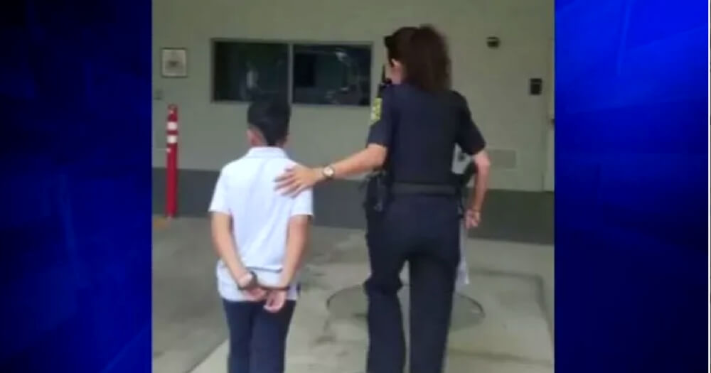 Age 7 Boy Taken Away from School in Handcuffs after Incident That Started in Cafeteria