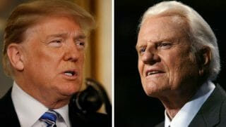 Donald trump, billy graham