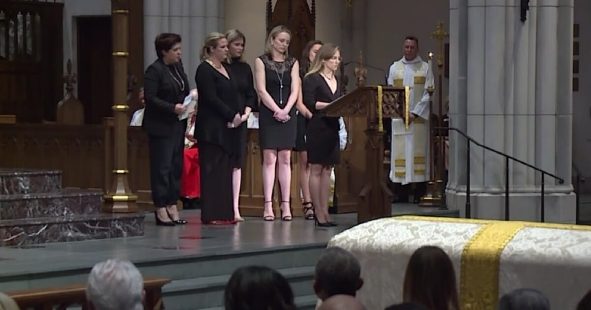 Barbara Bush's Granddaughters Honor Her at Funeral with Tear
