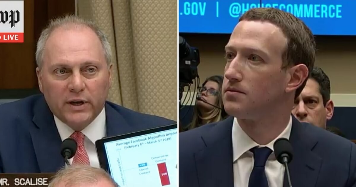 Rep. Steve Scalise Grills Zuckerberg over Facebook's Bias Against Conservatives