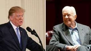 U.S. President Donald Trump and former President Jimmy Carter