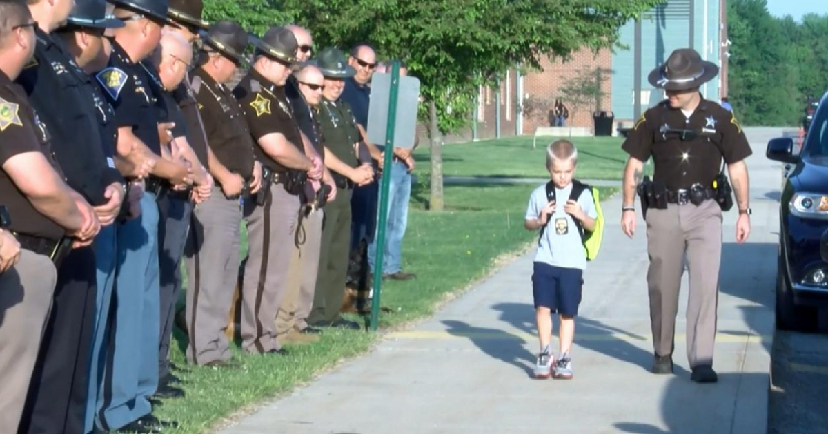 70 Officers Line Street for Age 5 Boy Whose Dad Was Killed in Line of Duty