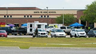 Santa Fe, Texas, school shooting scene