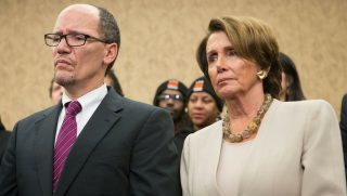 DNC Chair Tom Perez and Rep. Nancy Pelosi