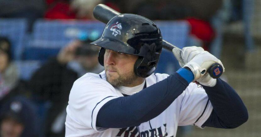 tim tebow with bat