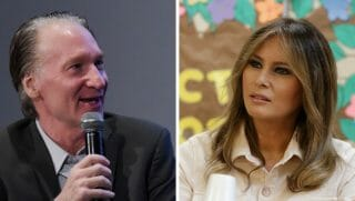 "HBO talk show host Bill Maher joked about first lady Melania Trump wearing a jacket that says, ""That's Mrs. Hitler to You."""
