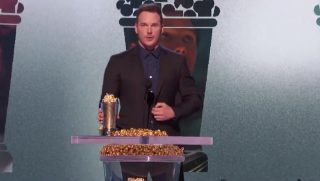 Chris Pratt accepts the MTV Generation Award.