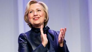 Hillary Clinton speaks on her book tour.